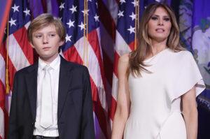 Мелания Тръмп и синът Уилям Барън